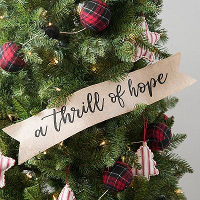 A Thrill Of Hope Paper Banner Christmas Tree Decorations Silver Christmas Decorations Christmas Stage