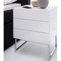 Kommoden Hochglanz Nachttisch Weiss Graue Schlafzimmermobel Und