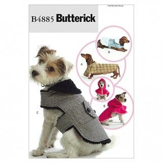 Butterick Pets Easy Sewing Pattern 4885 Dog Coats | Sewing | Patterns | Minerva Crafts