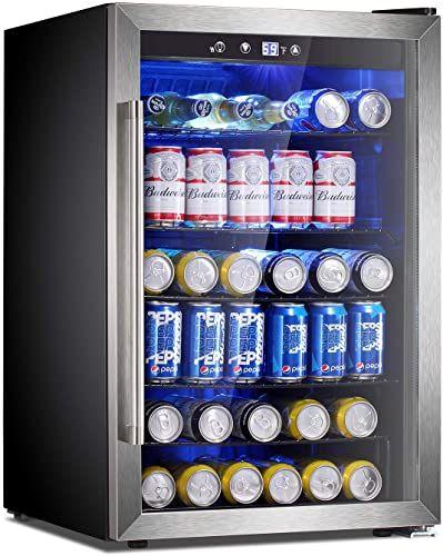 Best Seller Antarctic Star Beverage Refrigerator Cooler 120 Can Mini Fridge Glass Door Soda Beer Wine Stainless Steel Glass Door Small Drink Dispenser Machine In 2020 Beverage Refrigerator Refrigerator Cooler Mini Fridge