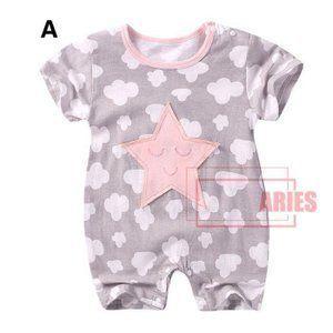 Neugeborenes Baby Kleidung Overalls Baby Kinder Brief Print Spielanz/üge Kurzarm Sommer Strampler Outfits
