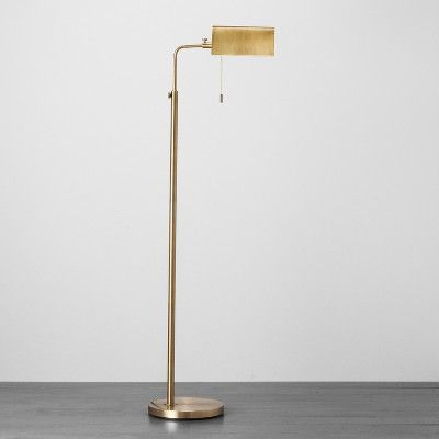 Gold Floor Lamp Brass Standing Lamp Brass Floor Lamp Library Lamp