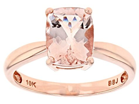 Pink Morganite 10k Rose Gold Ring 1 50ctw Afc013 Pink Morganite Rose Gold Ring Gold Rings