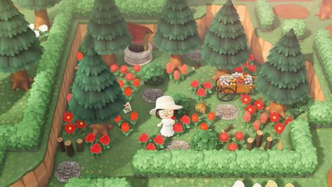 Honeyglen Island — Honeyglen's Secret Garden🌹🐝 Dark Souls, Animal Crossing Guide, Ac New Leaf, Motifs Animal, Garden Animals, Rustic Gardens, Outdoor Gardens, Rooftop Gardens, Island Design