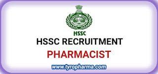 Hssc Pharmacist Recruitment 2020 Apply Online Hryssc In For 25