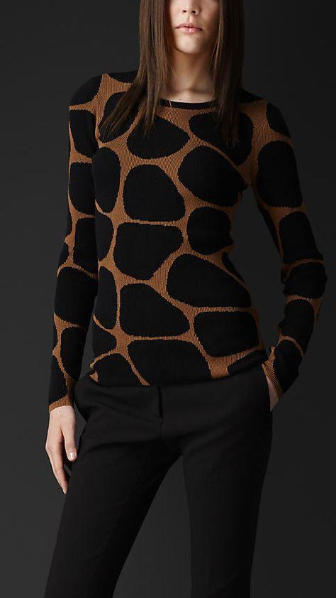 Burberry Prorsum Animal Pattern Sweater