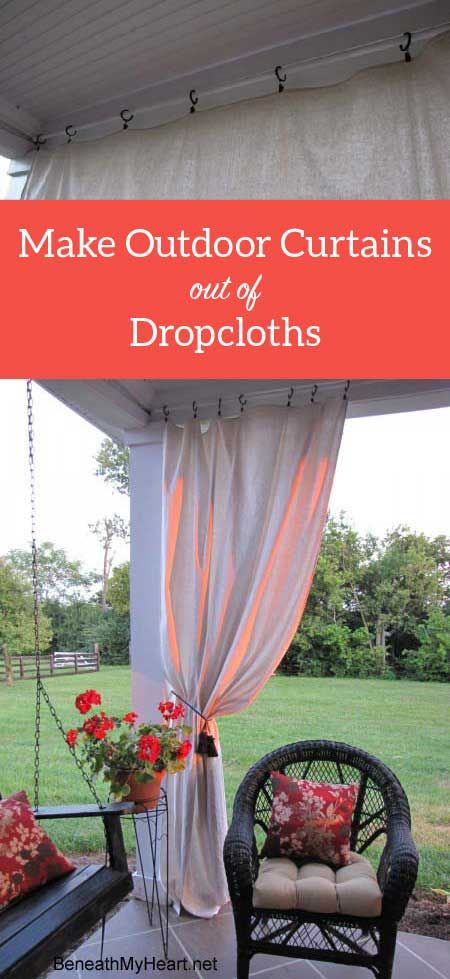 Make Your Own Outdoor Curtain Panels Outdoor Curtains For Patio Outdoor Curtain Panels Outdoor Drapes