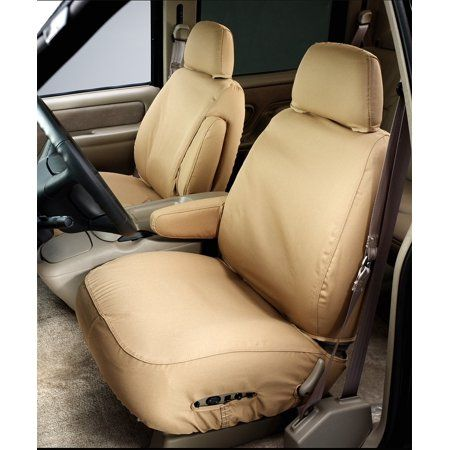 Duck Weave Covercraft Carhartt SeatSaver Front Row Custom Fit Seat Cover for Select Ford Models Brown