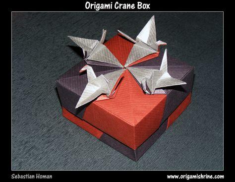 Origami crane box