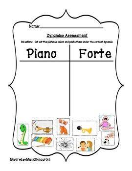 Loud Soft Dynamics Musical Assessment Worksheet Set Music Lessons For Kids Elementary Music Worksheets Basic Music Theory
