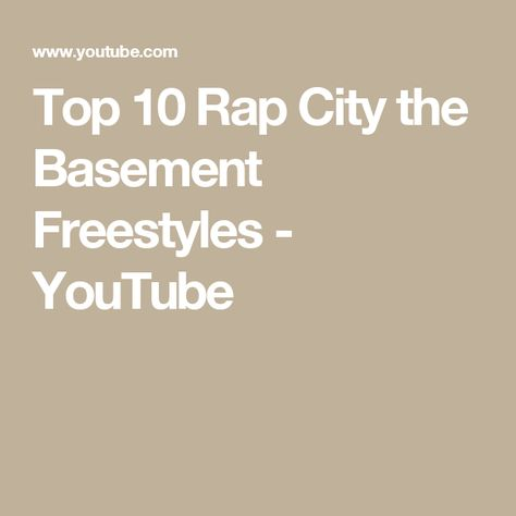 Top 10 Rap City the Basement Freestyles - YouTube   Music