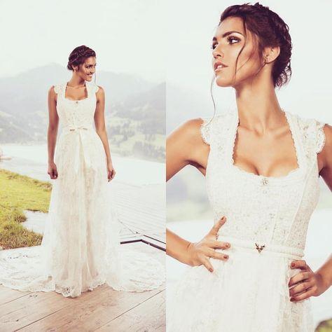 Dein Traumkleid von www.tianvantastique.com #hochzeitsdirndl #trachtenhochzeit #brautdirndl #shoppingqueen #anprobe #elegant #wedding #brautdirndlkleid #spitzenschleppe #braut