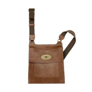 c7c0df8412 Mulberry - Antony Messenger in Oak Natural Leather