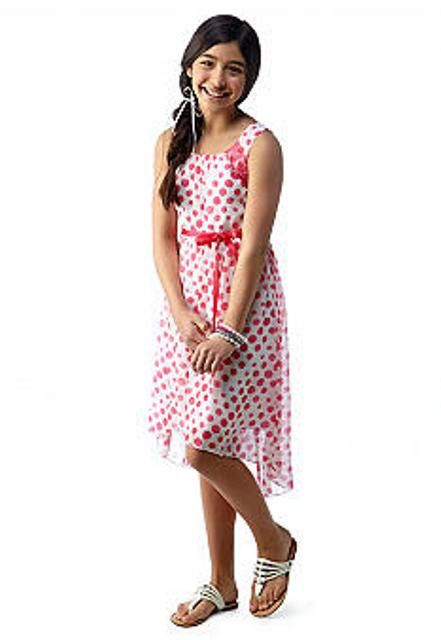 Gymboree Girls Tails of the City Quilted Polka Dot Dress NWT Size 8