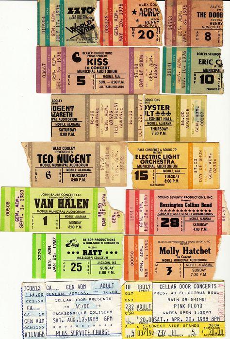 1970s pink floyd concert ticket stub - Google Search Concerts I - concert ticket invitation template