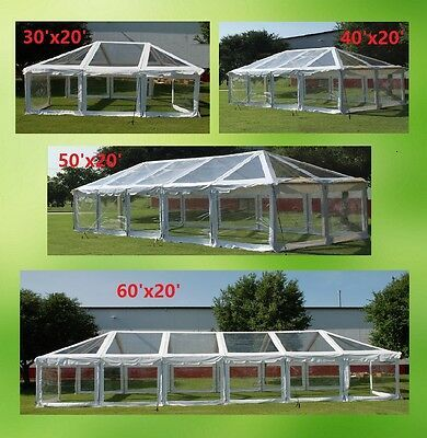 Pvc Party Tent 60 X 20 Clear Combi Fire Retardant Heavy Duty Canopy Shelter Party Tent Pvc Tent Tent Wedding