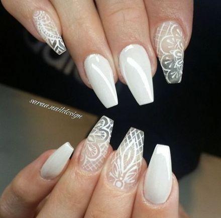 15 Ideas Nails Design Coffin Lace Nails Lace Nail Art Lace