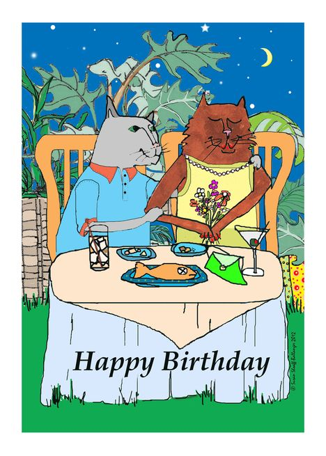 Birthday For Wife Cat Couple In A Tropical Setting Card Ad Ad Cat Wife Birthday Couple Happy Anniversary Cat Couple Happy Anniversary Quotes