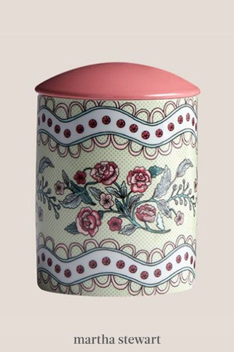 She'll feel like she's wandering through an in-bloom garden while burning this aesthetically-pleasing candle with notes of blackcurrant and Bulgarian rose—plus, she'll use the sophisticated vessel as a catch-all when all the wax has burned through. #marthastewart #valentinesdayideas #giftsforher #giftsforhim #valentinesdaydecor #valentinesdiy