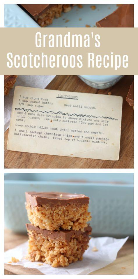 Grandma's Scotcheroos Recipe
