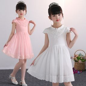 Children S Clothing Thin Girls Dresses Cotton Short Sleeve Princess Skirt Children White Affordable Kids Clothes Kids Clothes Australia Chic Baby Girl Outfits