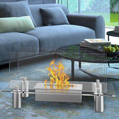 Orren Ellis Alisha Bio Ethanol Fireplace In 2020 Ethanol Fireplace Indoor Fireplace Bioethanol Fireplace