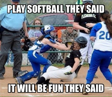 OMG this happened to me at my last game Funny Softball Quotes, Softball Cheers, Softball Pictures, Softball Players, Girls Softball, Fastpitch Softball, Softball Stuff, Softball Things, Softball Crafts