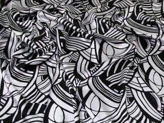 Crinkle Satin Fabric Black  White | Fabric | Dress Fabrics | Minerva Crafts