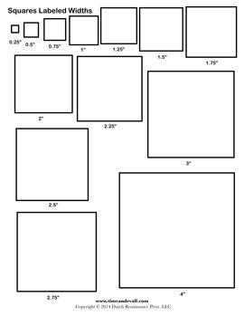 Printable Square Templates | geometry/shapes | Pinterest | Template ...