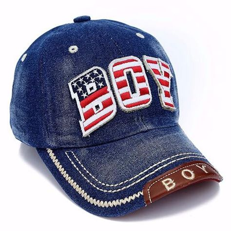 3eb28fa2187 Denim Cotton USA element BOY logo kids baseball cap Children pu leather snapback  Snap back