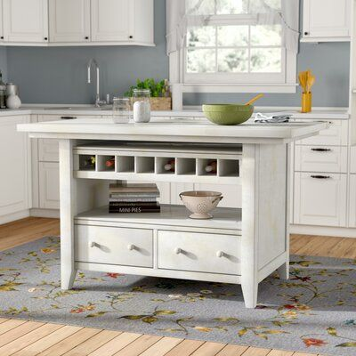 August Grove Carrolltown Kitchen Island Kitchen Design Small Wood Kitchen Island Kitchen Design