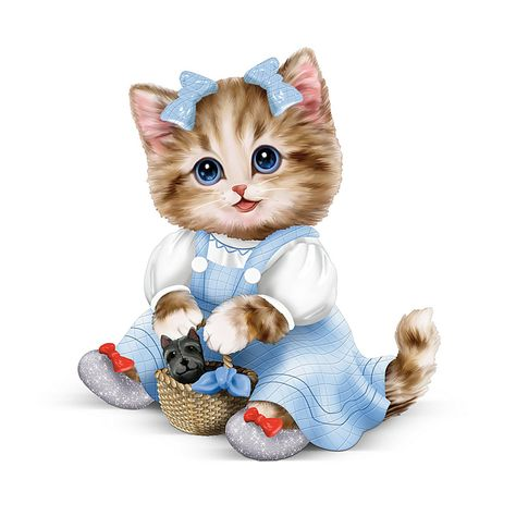Kayomi Harai Kitten: There's No Place Like Home Dorothy Wizard Of Oz Figurine by The Hamilton Collection
