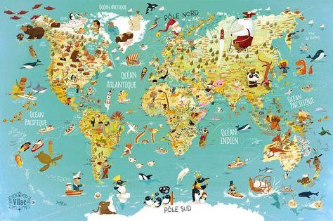 Vilac Puzzle Mapa Sveta 500 Dilku 0 Mapy Sveta Mapa Hracky