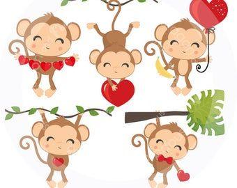 Buy5get5 Valentine Clipart Valentine Animals Clipart Etsy In 2021 Valentine Clipart Clip Art Animal Valentine