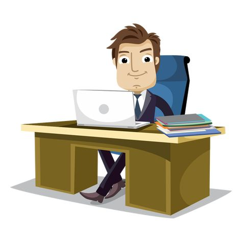 Businessman Working At Office Cartoon Png Office Cartoon Motion Design Animation The Office Characters