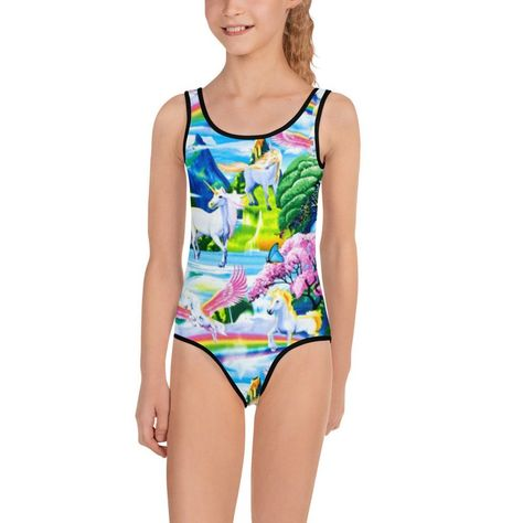 2cc5651b83e8a Toddler Swimsuit Unicorn Rainbow Mommy and Me Figure Skating | Etsy ...