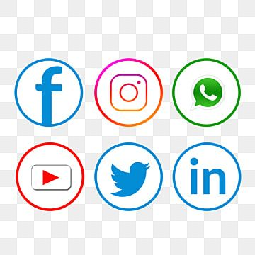 Facebook Icons Whatsapp Icons Youtube Icons Social Icons Media Icons Social Creative Youtube Whatsapp Lin Social Media Icons Social Media Icons Vector Icon Set