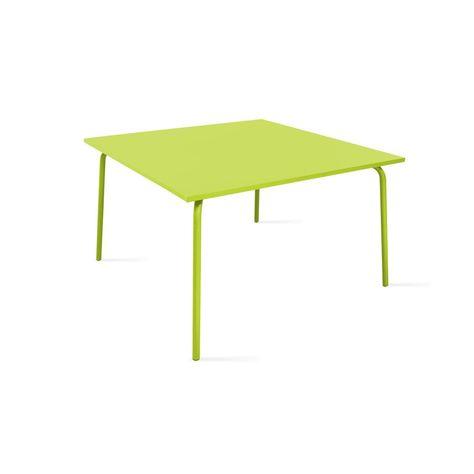 Table de jardin carrée en métal, Palavas | Products
