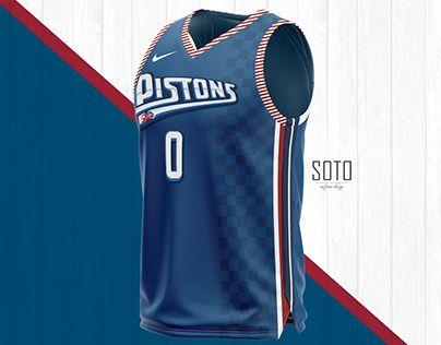 Concept Jersey Nike Nba X Detroit Pistons By Soto Uniforms Design Jersey Sports Jersey Design Houston Rockets