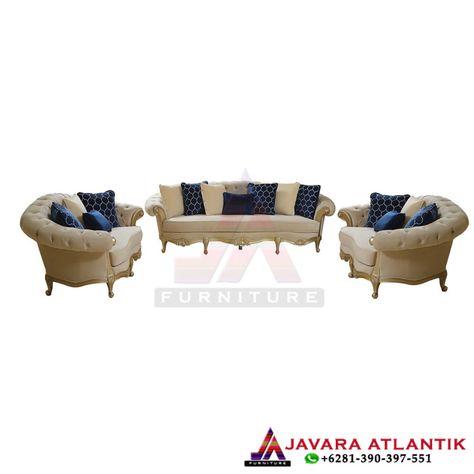 30+ set sofa chester mewah gold classic - set kursi tamu