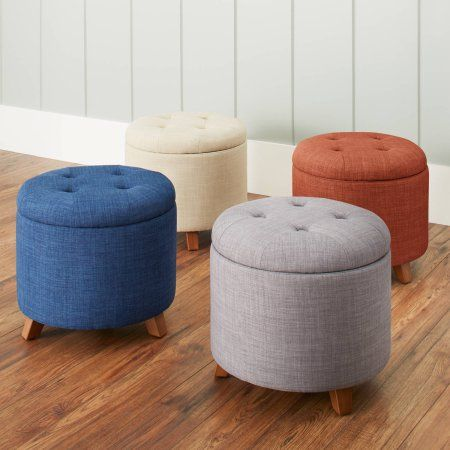 Better Homes Gardens Colette Tufted Storage Ottoman Multiple