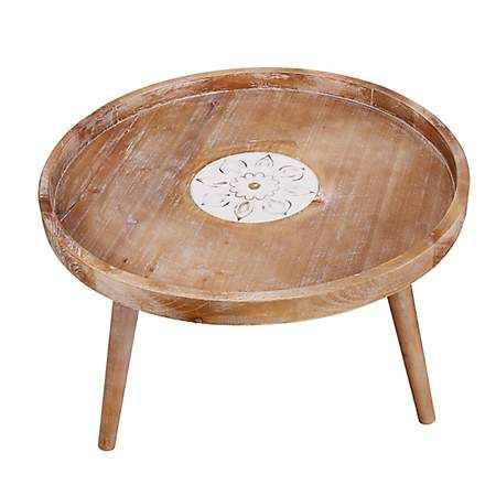fir wood round table with lip