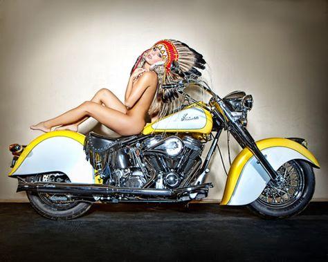 Motos Antigas : Indian Motorcycle Girl