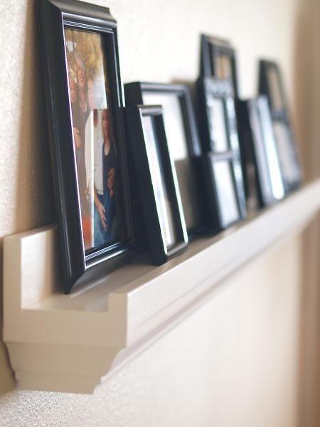 diy picture frame ideas | DIY/Design Ideas / ledge frame holder