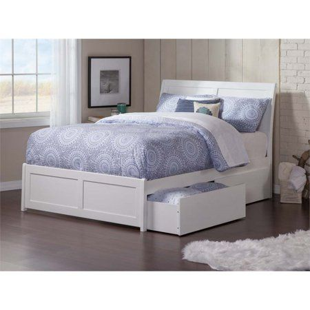 Portland Full Platform Bed With Matching Foot Board With 2 Urban