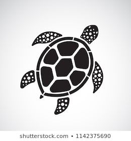 Vector Of Turtle Design On A White Background Reptile Animals Easy Editable Layered Vector Illustration Turtle Illustration Turtle Art Sea Turtle Art