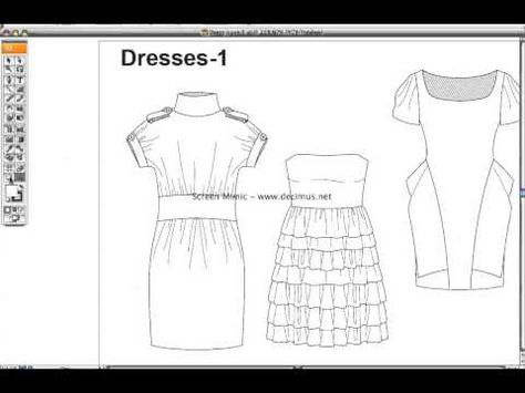 Fashion templates Dress