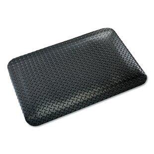 Rubber Cal Inc Diamond Plate Garage Flooring Roll In Black Wayfair Anti Fatigue Mat Garage Floor Diamond Plate