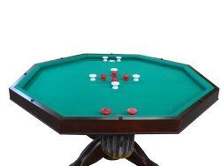 3 In 1 Table 6 Chairs Octagon 48 Bumper Pool With Slate Bed In Dark Walnut Free Shipping Winter Bumper Pool Bumper Pool Table Dark Walnut Finish