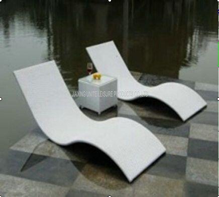 Metal Rattan Wicker Pool Lounge Chairs Outdoor Sun Lounge Chairs